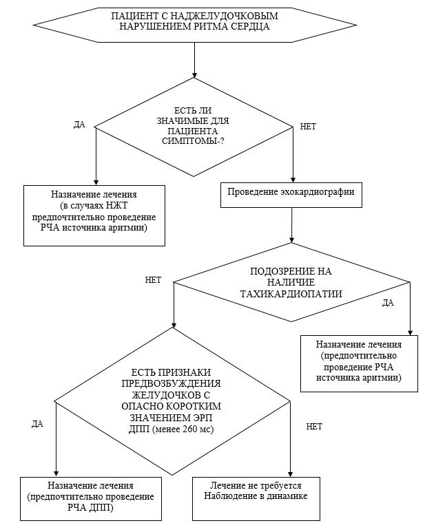 Приложение Б. Алгоритм ведения пациента с НЖТ